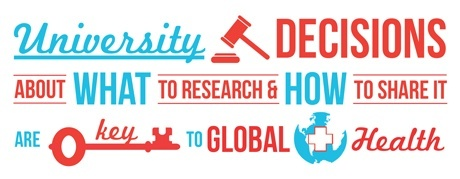 University decisions are key to global health